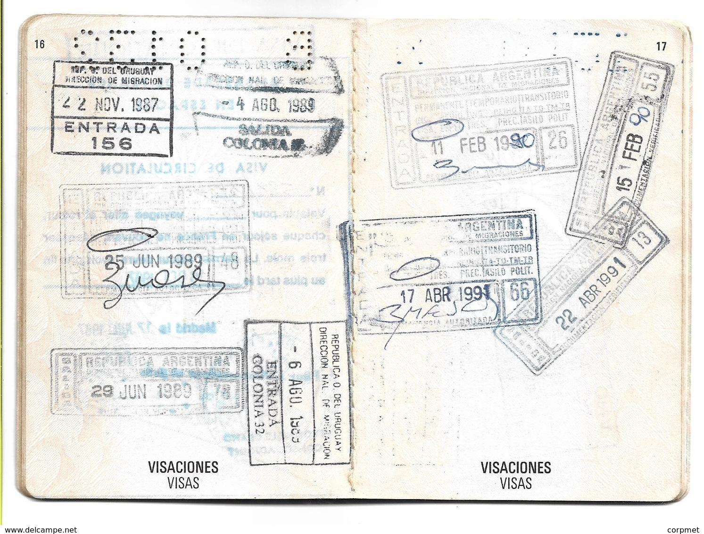 URUGUAY  - DIPLOMATIC   PASSPORT - PASSEPORT +  Previous Presidential Letter With Designation To JAPAN Embassy (scan 8) - Historische Dokumente