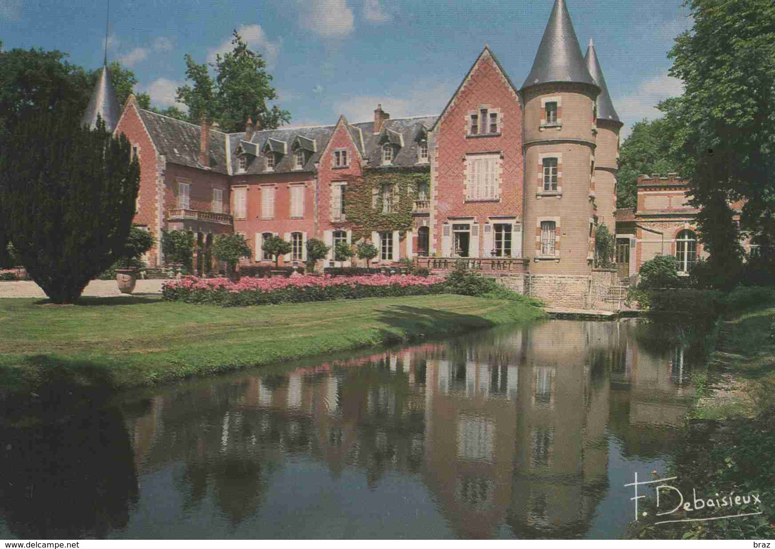 CPM  Villeneuve D'allier Chateau De Balaine - Francia