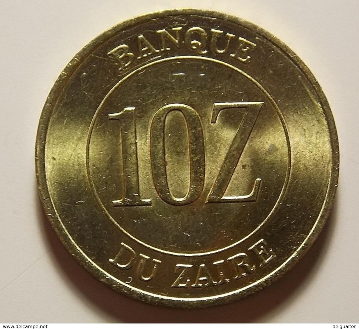 Zaire 10 Zaires 1988 Varnished - Zaire (1971-97)
