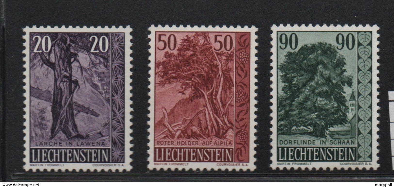 LIECHTENSTEIN N° 339/341 * (charnière) - Liechtenstein