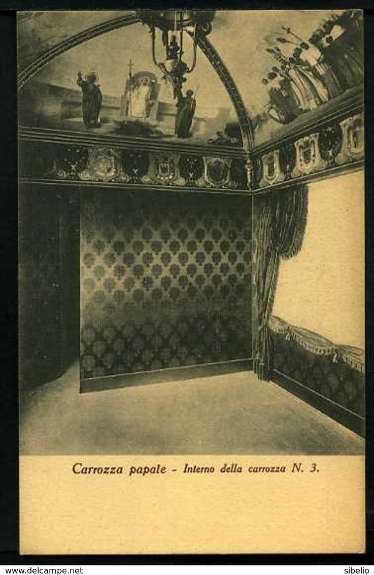 Carrozza Papale - Interno Della Carrozza N° 3 - Non Viaggiata - Rif. 06351 - Cristianesimo