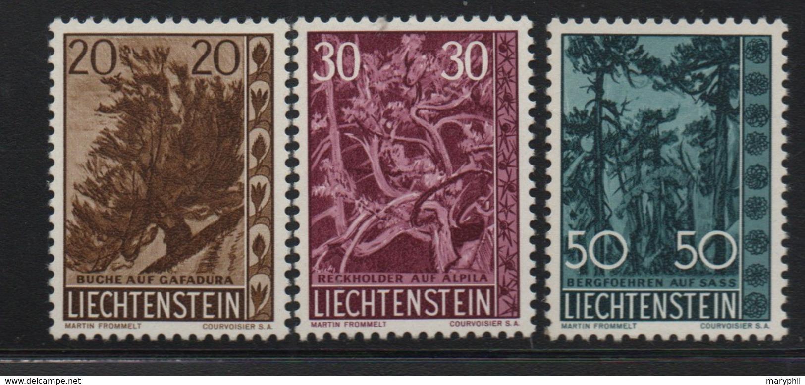 LIECHTENSTEIN N° 356/358 * (charnière) - Liechtenstein