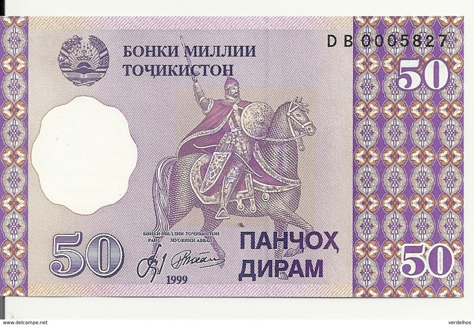 TADJIKISTAN 50 DRAM 1999 UNC P 13 - Tajikistan