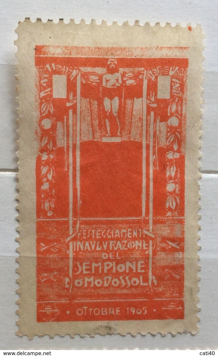 DOMODOSSOLA  OTTOBRE 1905  FESTEGGIAMENTI INAUGURAZIONE DEL SEMPIONE  ERINNOFILO CHIUDILETTERA - Other
