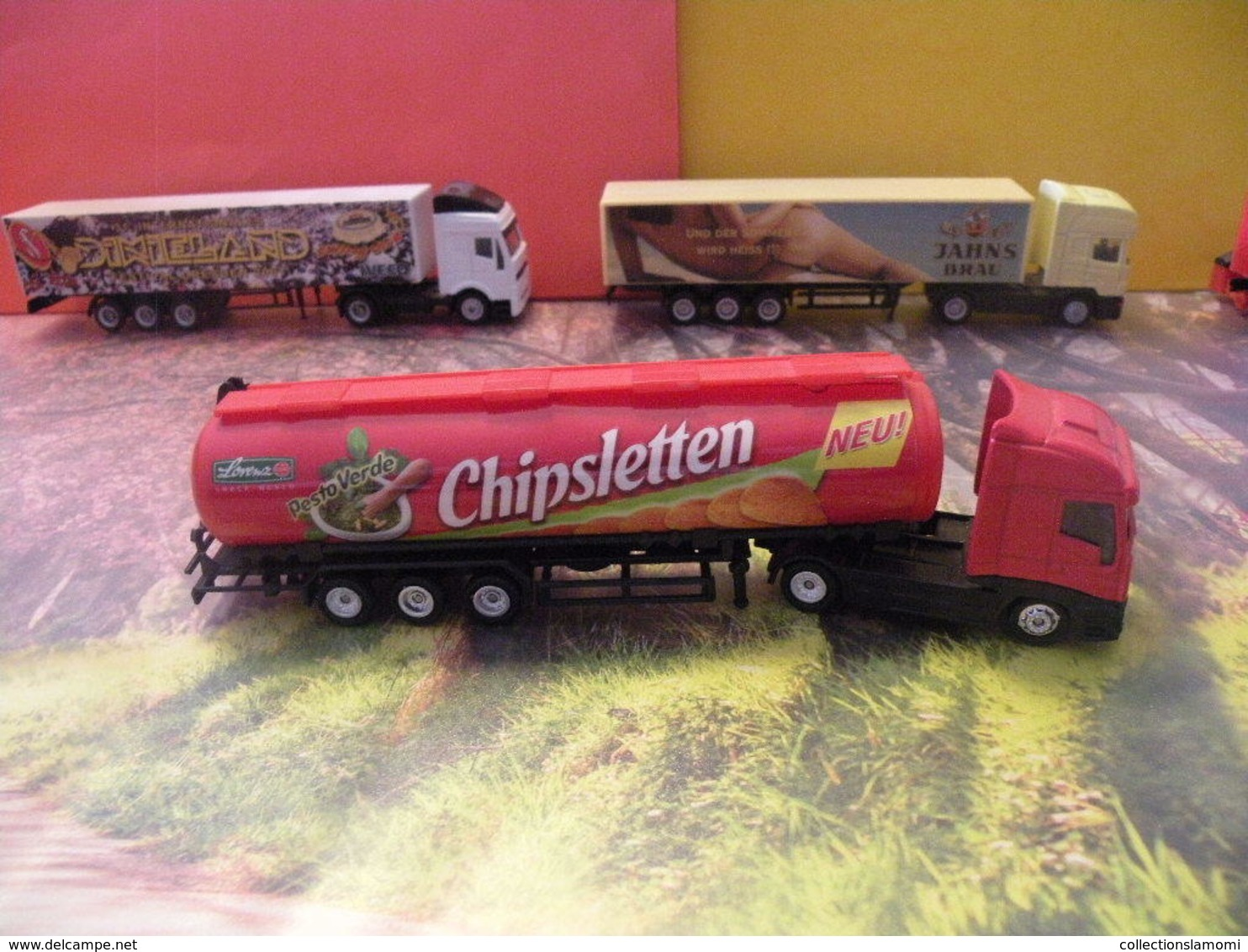 Camion Citerne Iveco - Chipsletten - 1/87 -  Sans Boite - Echelle 1:87