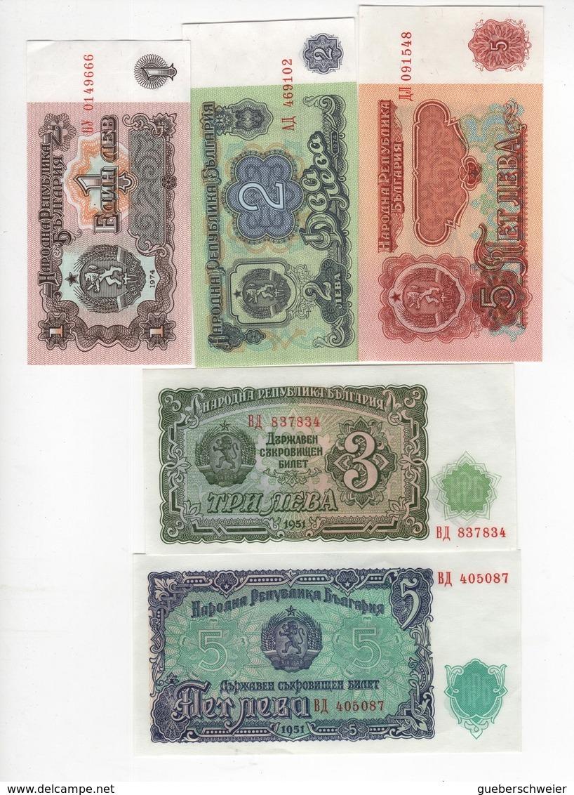 B25 - BULGARIE Lot De 5 Billets - Bulgarie