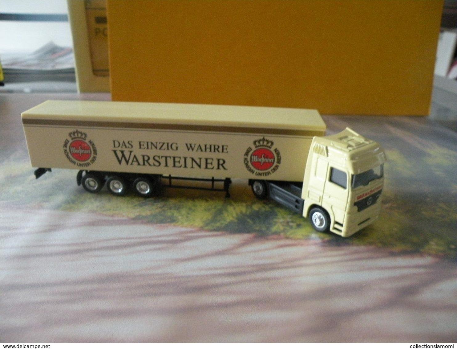Camion Mercedes Astros - Bière Warsteiner - 1/87  Sans Boite - Echelle 1:87