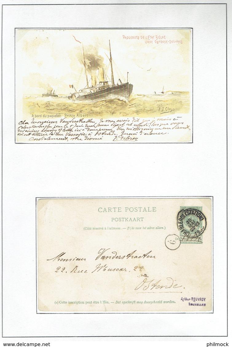 Belle étude Sur La Malle Ostende-Douvres - Les Paquebots De 1899 A 1914 - Belgique