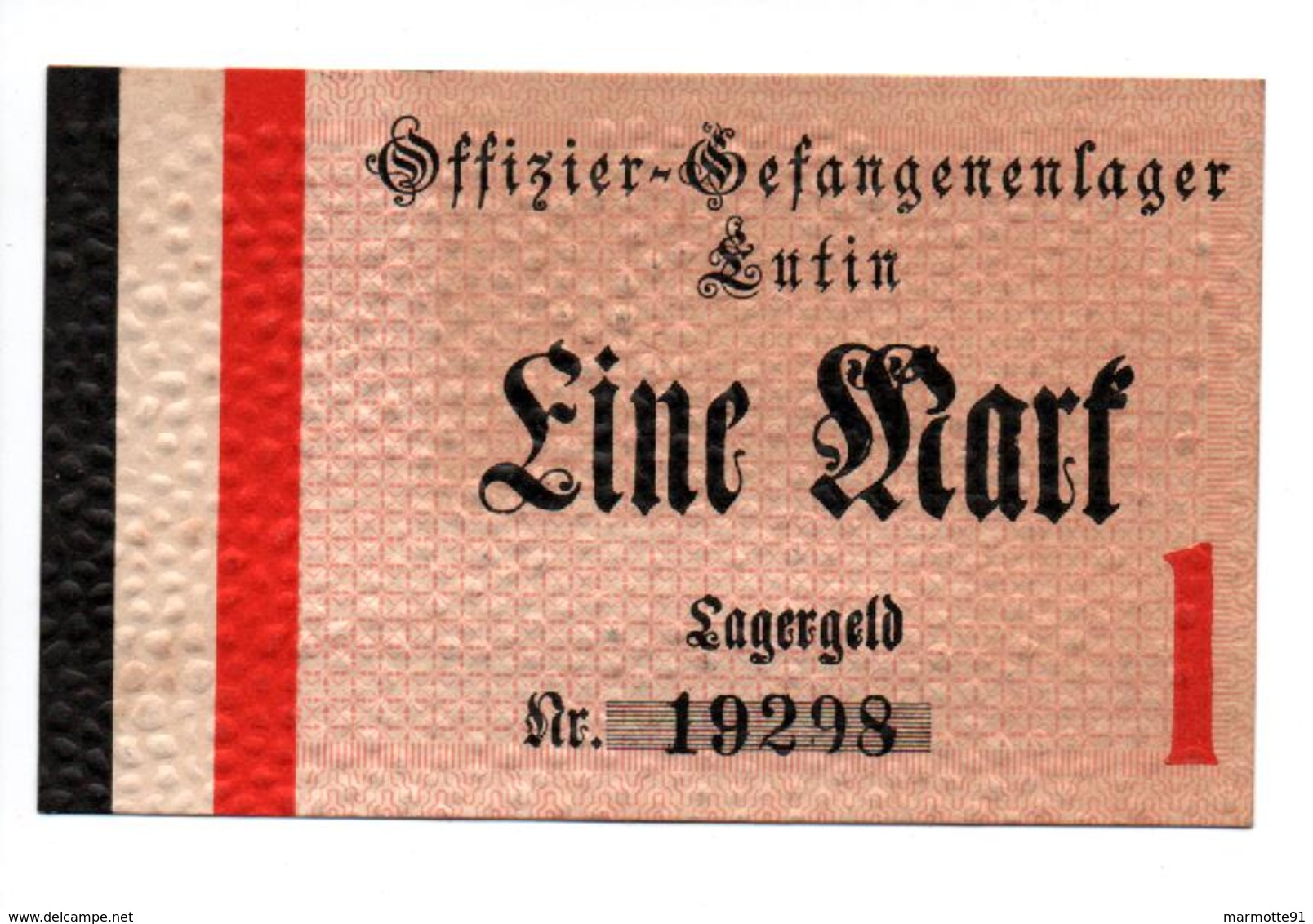 GEFANGENENLAGER GELD LAGERGELD BILLET CAMP LUTIN OFFICIER PRISONNIER ALLEMAGNE KG POW GUERRE 1914 1918 - [10] Emissions Militaires