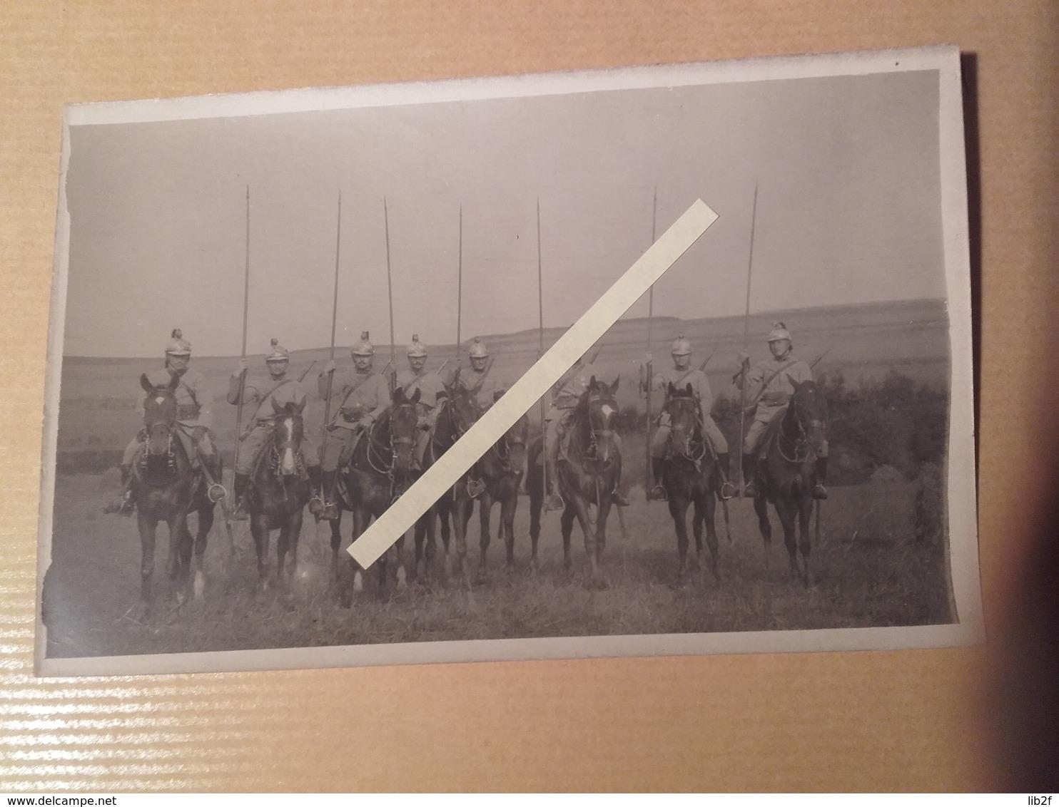 1914 Meaux 8 Eme Régiment De Hussards Cavaliers Cavalerie  Poilu Tranchée W1 1WK 1914 1918 14-18 - War, Military