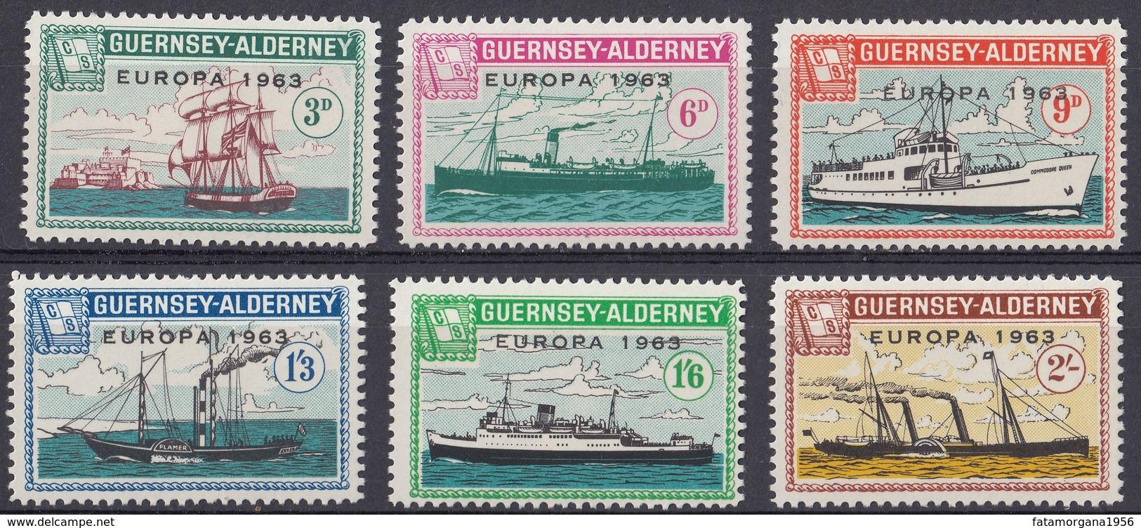GUERNSEY Local Mail To ALDERNEY - 1963 - Europa - Serie Completa Di 6 Valori MNH, Come Da Immagine. - Guernsey