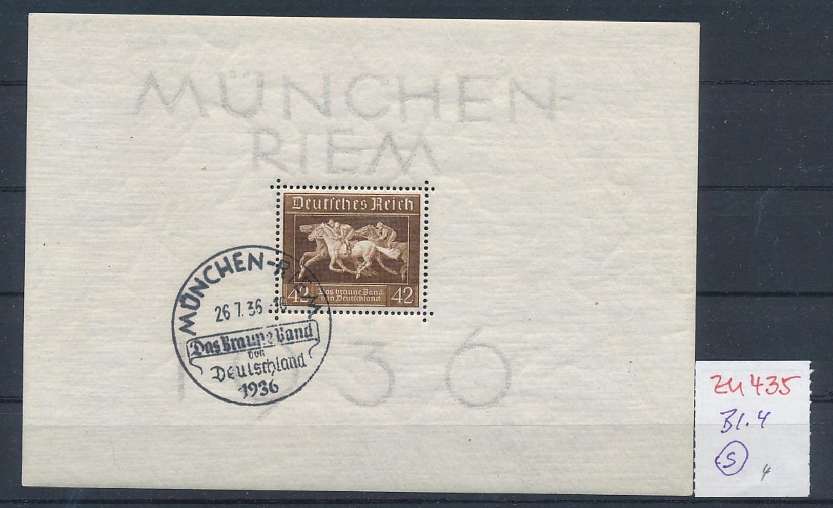 D.-Reich Nr.  Block 4  O  (zu435  ) Siehe Scan - Deutschland