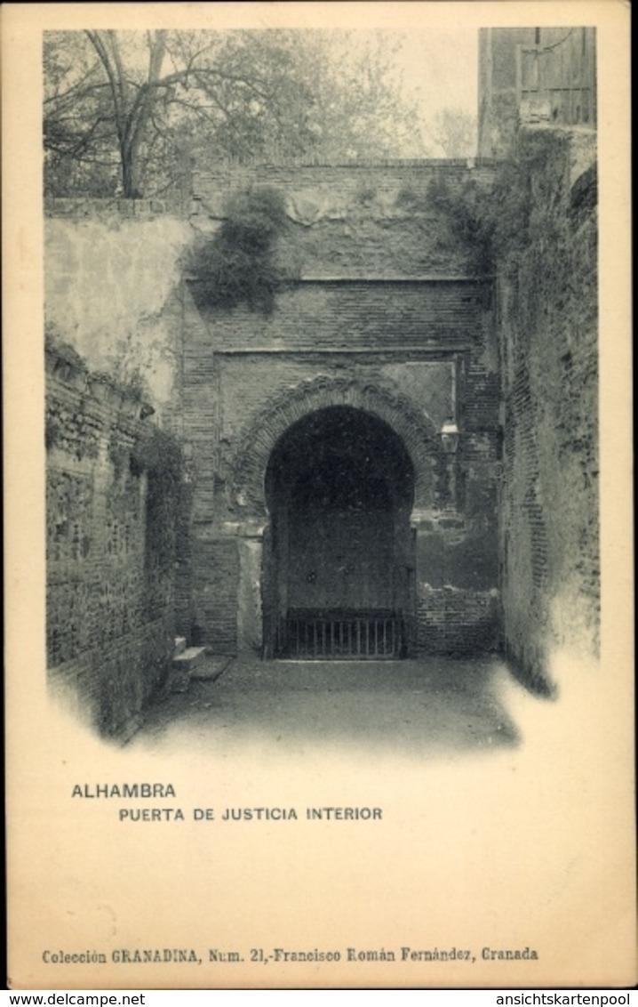 Cp Granada Andalusien Spanien, Alhambra, Puerta De Justicia, Interior - Espagne