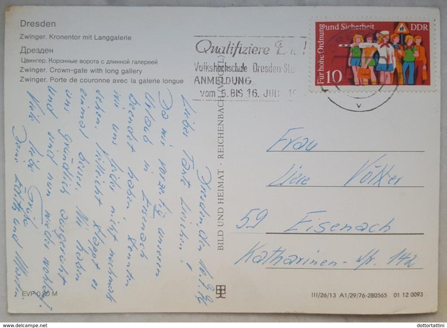 DRESDEN - Zwinger. Kronentor Mit Langgalerie - DDR - Vg G2 Stamp - Dresden