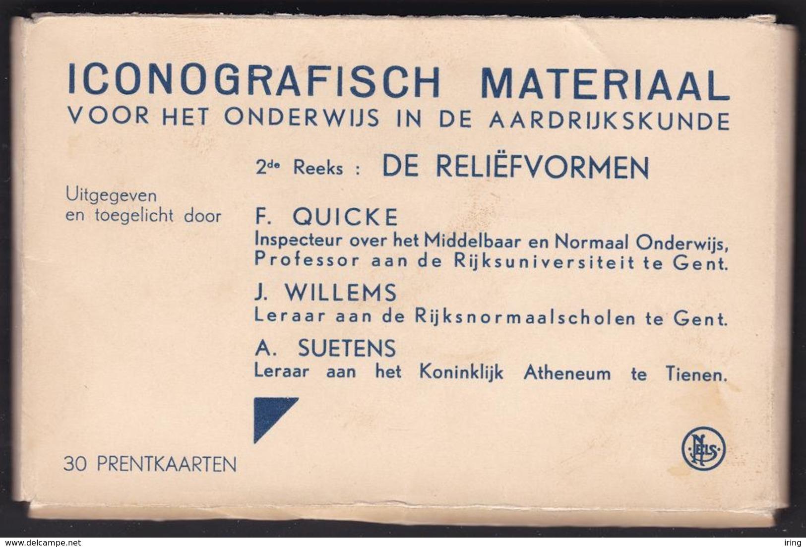 Iconografisch Materiaal : De Reliëfvormen - Mapje Met 29 Zichtkaarten - Cartes Postales