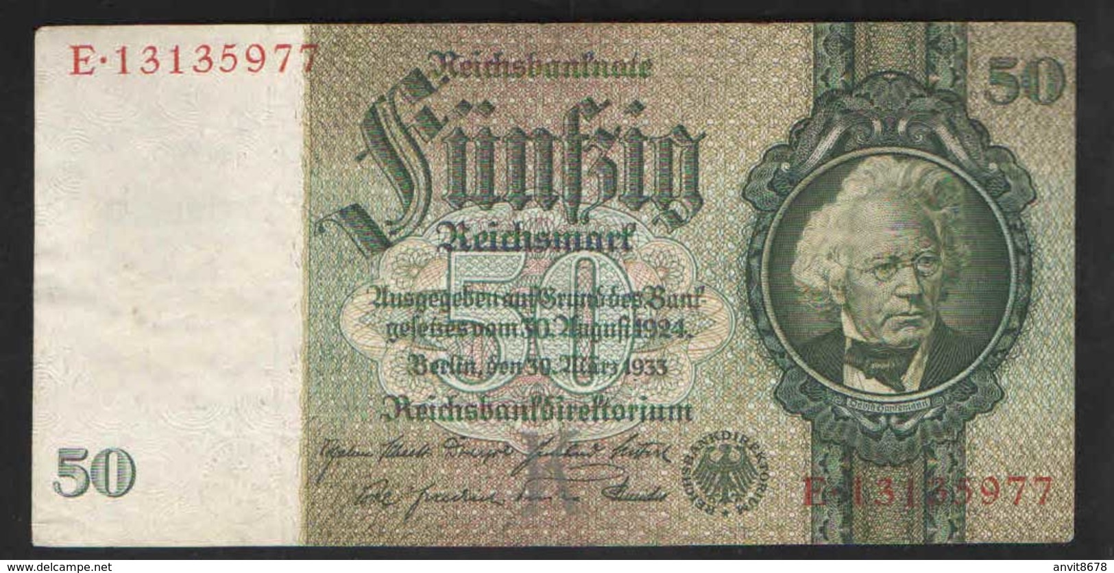 GERMANY  50 REICHMARK 1933г - 50 Reichsmark