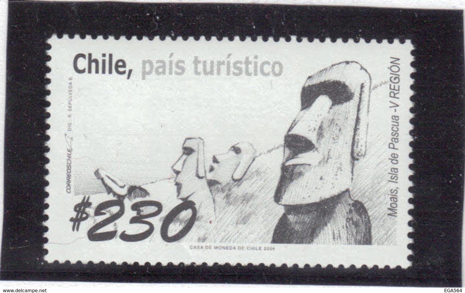 B16 - CHILI - PO 1707 ** MNH De 2006 - Statues MOAIS De RAPA NUI - ILE De PÂQUES - - Chili