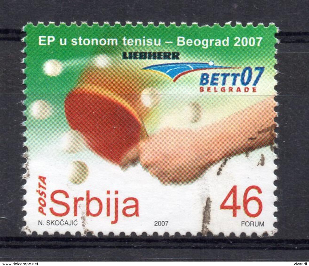 Serbia - 2007 - European Table Tennis Championships - Used - Serbie