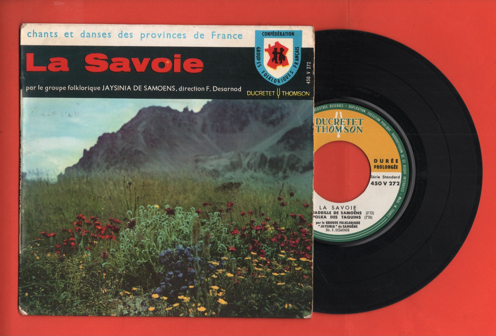 GROUPE JAYSINIA DE SAMOENS - LA SAVOIE - ECHO DE SAMOENS / JAYSINIA VALSE / LE QUADRILLE DE SAMOENS / LA POLKA DES TAQUI - Discos De Vinilo