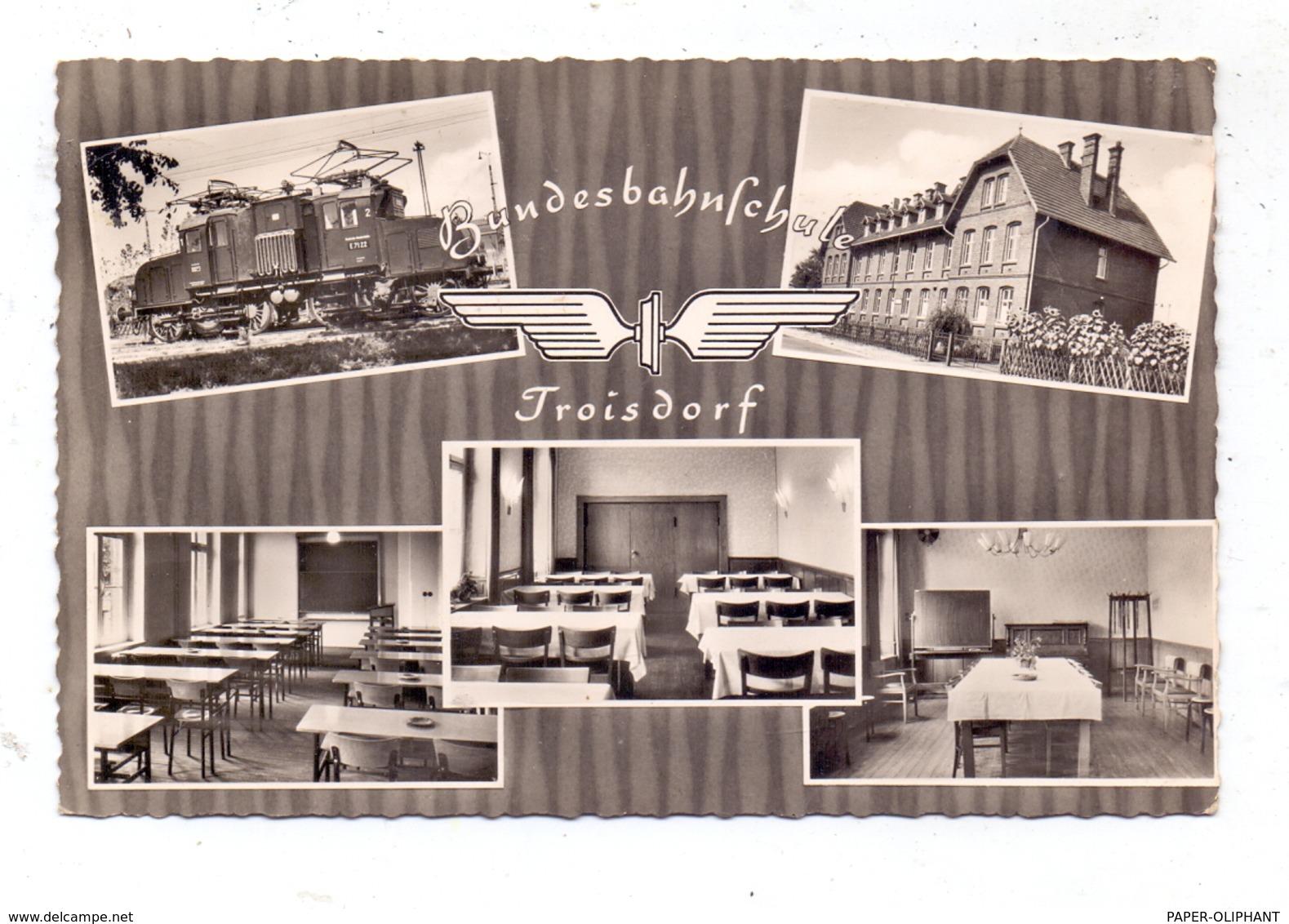5210 TROISDORF, Bundesbahnschule, Eisenbahn - Troisdorf