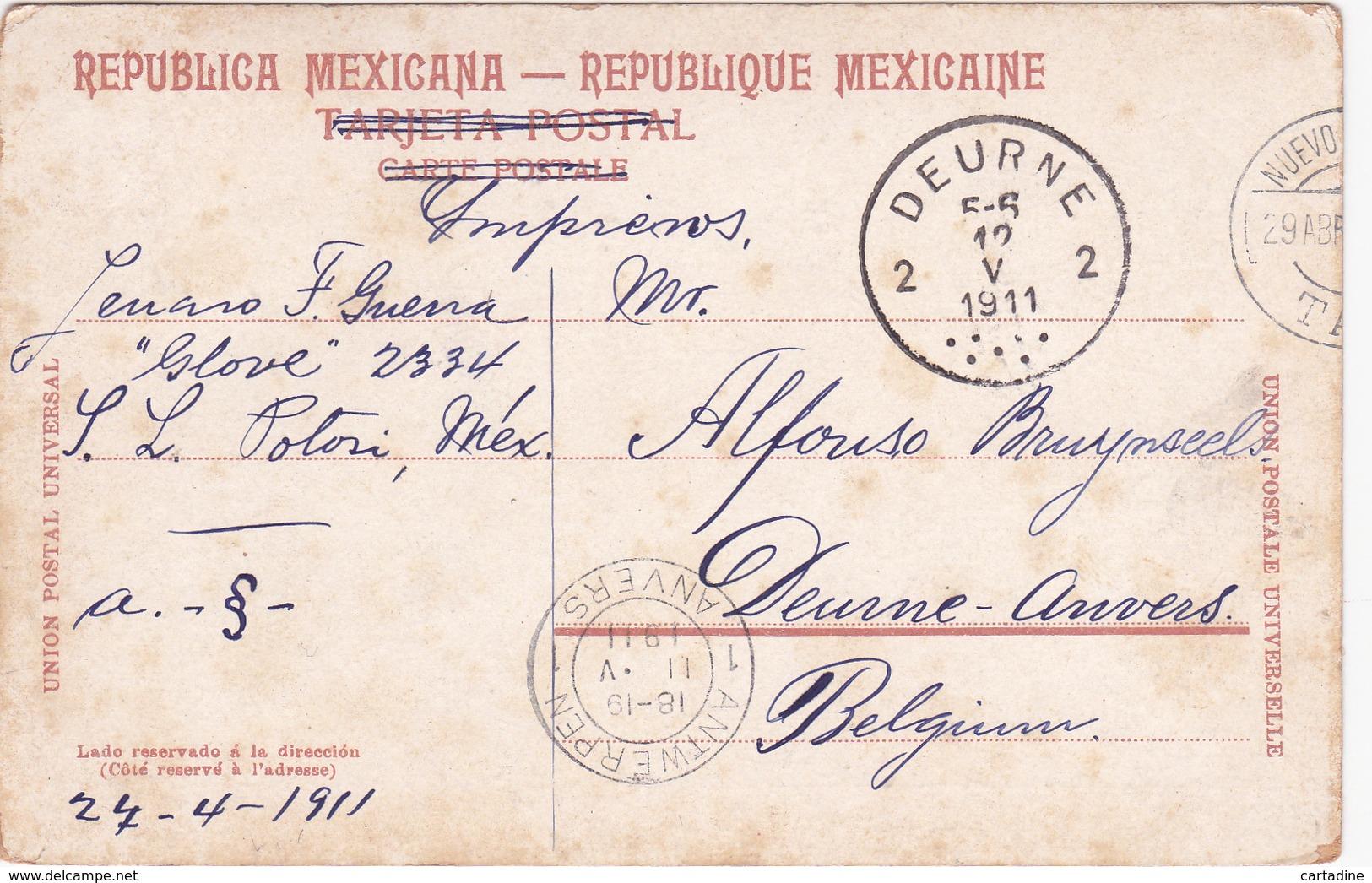 CPA Mexique / Mexico - Canal De La Viga - 1911 - état - Mexique