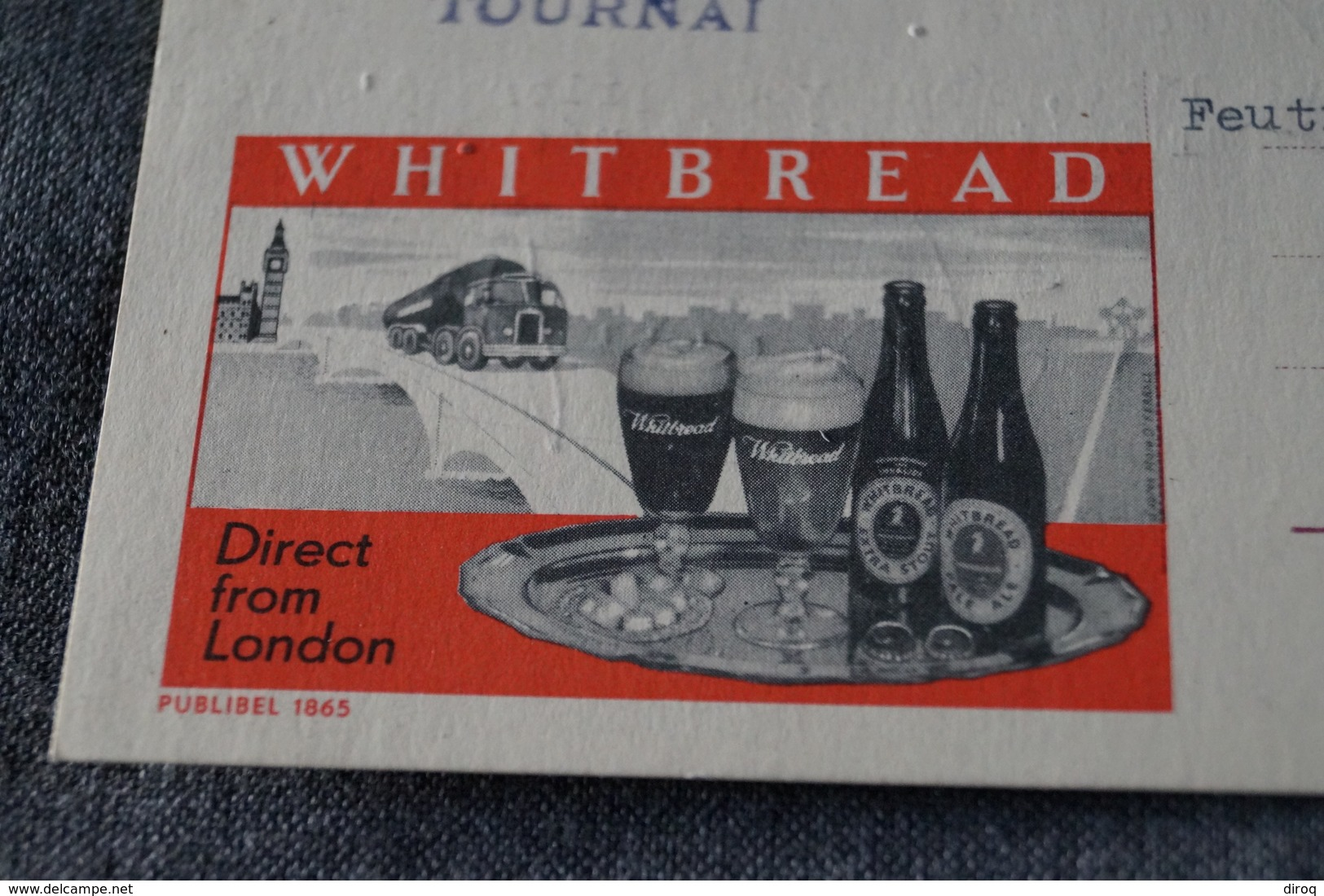 Publibel,Bière Whitbread 1962 ,pour Collection - Stamped Stationery