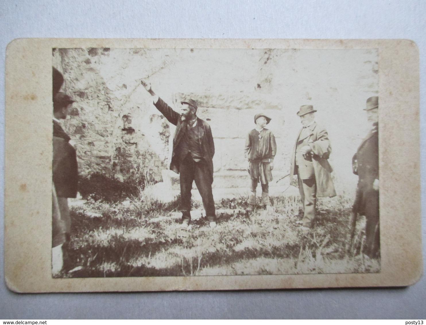 Photographie CDV - Homme - Harangue Politique ?  -  A Identifier - Dos Muet  TBE - Photos