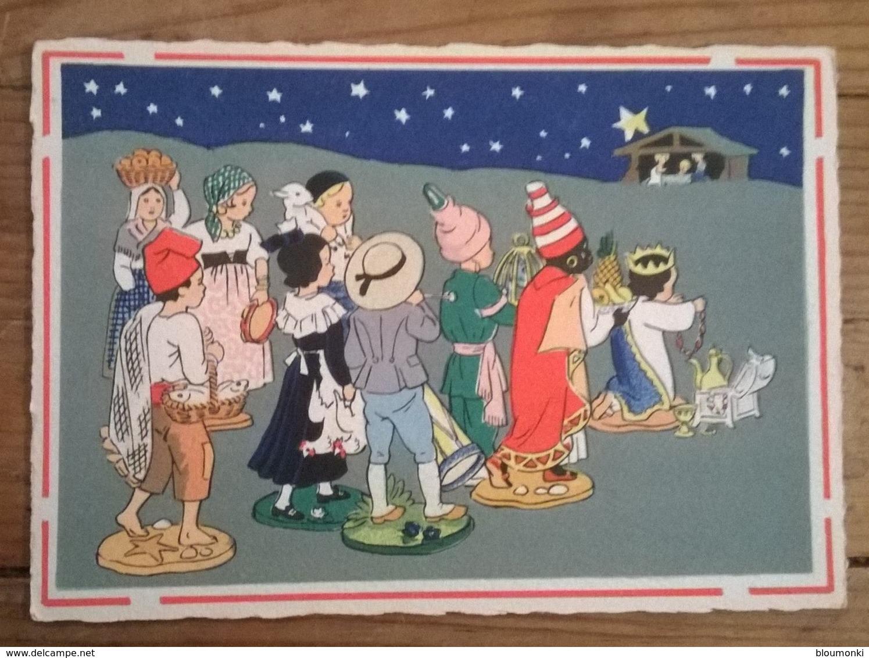 CPA /   Carte Postale Ancienne / Barré Dayez / Santons Et Crèche De Noël - Natale