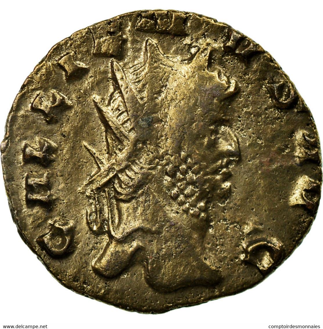 Monnaie, Gallien, Antoninien, Roma, TTB, Billon, RIC:192A - 5. L'Anarchie Militaire (235 à 284)