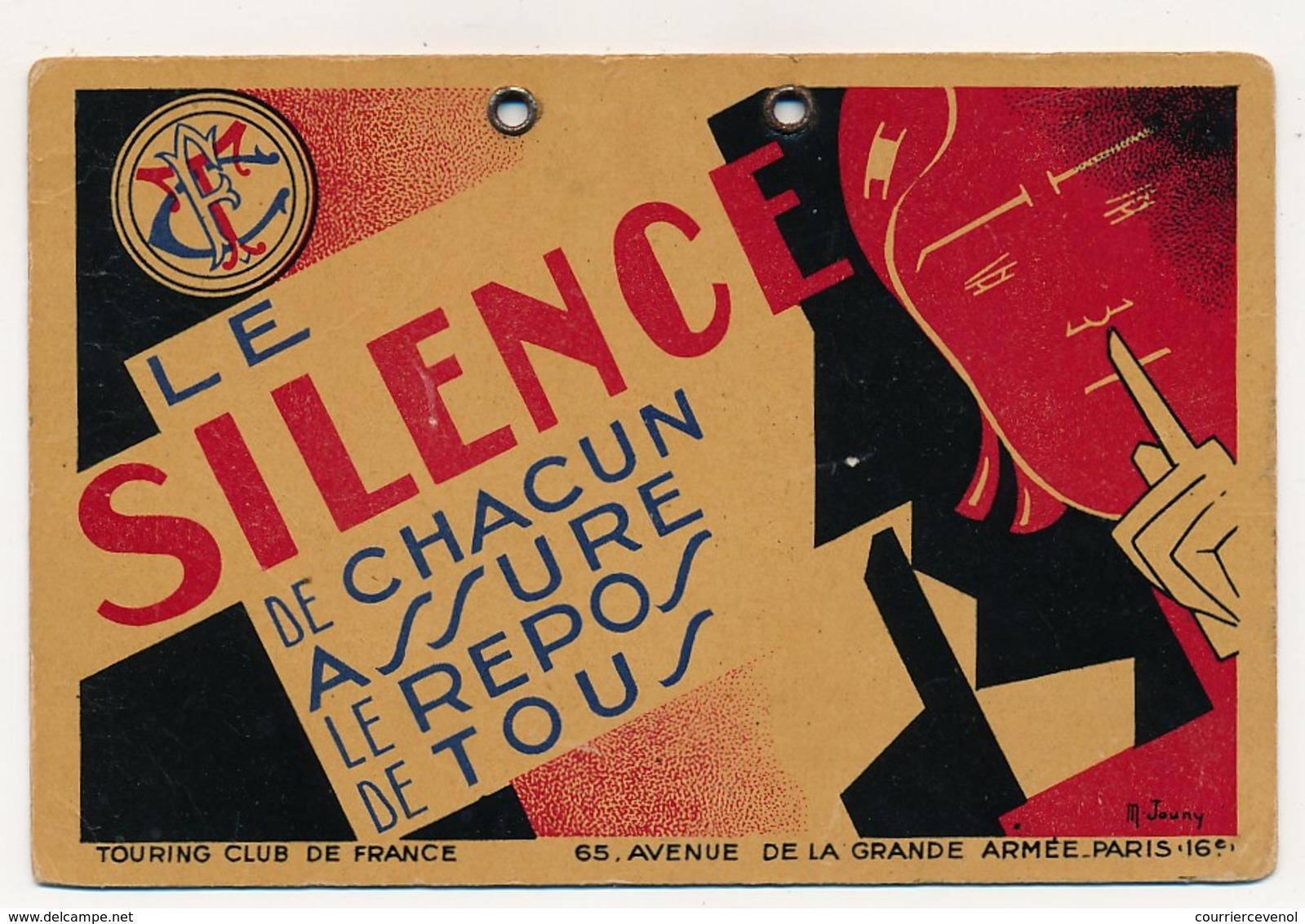 """80c Pétain Seul Oblit HEREPIAN (Hérault) 6/2/1941 Sur CP De Fortune, Carton Du Touring Club """"Le Silence De Chacun Assure - 1941-42 Pétain"""