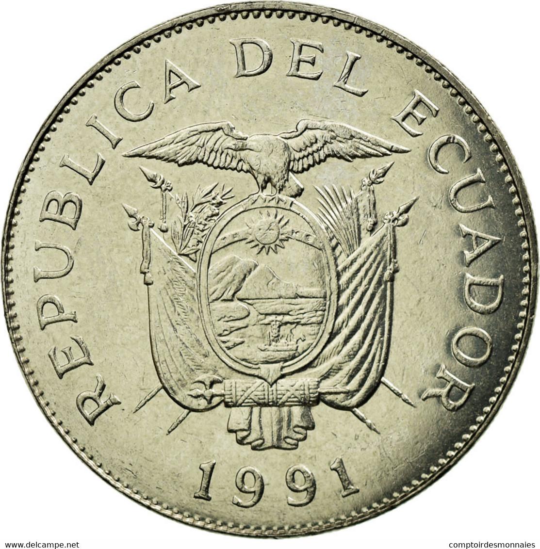 Monnaie, Équateur, 50 Sucres, 1991, TTB, Nickel Clad Steel, KM:93 - Equateur