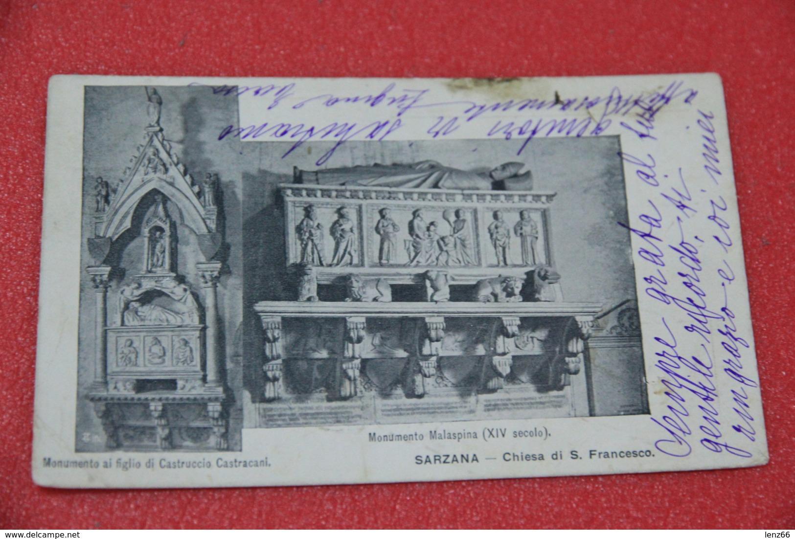La Spezia Sarzana Chiesa Di S. Francesco Il Monumento Malaspina Spedita Nel 1900 - Italie