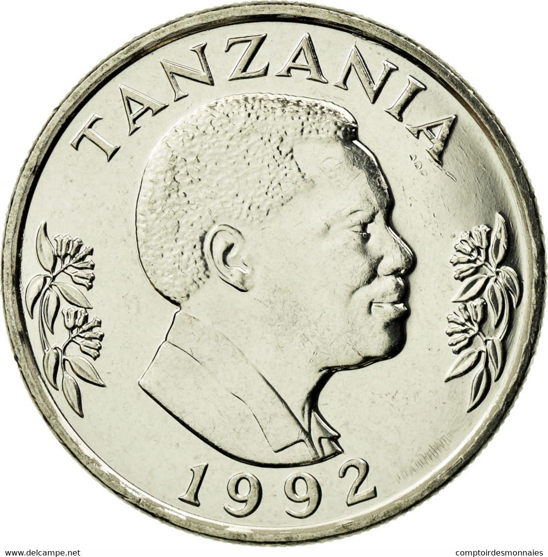Monnaie, Tanzania, Shilingi, 1992, British Royal Mint, SPL, Nickel Clad Steel - Tanzania