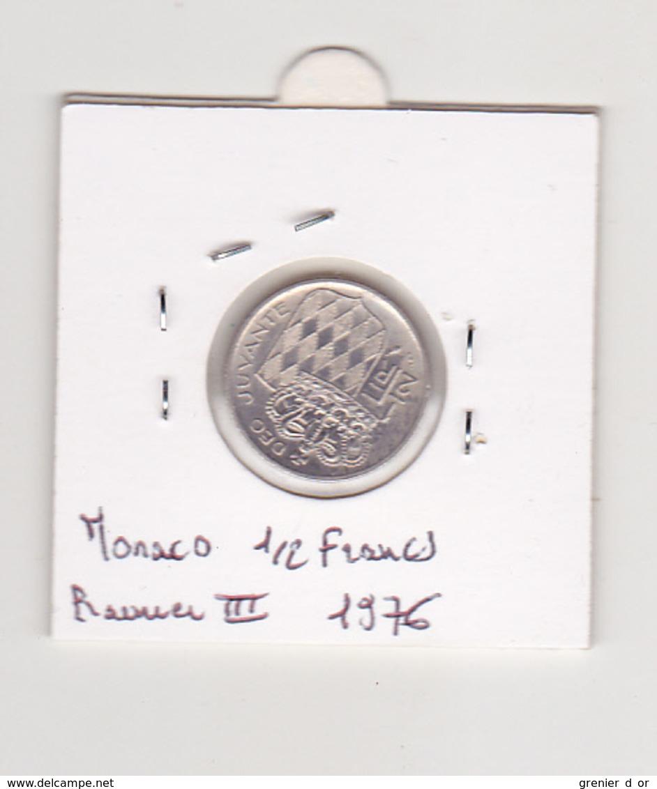 1/2 Franc 1976 Rainier  III - Monaco