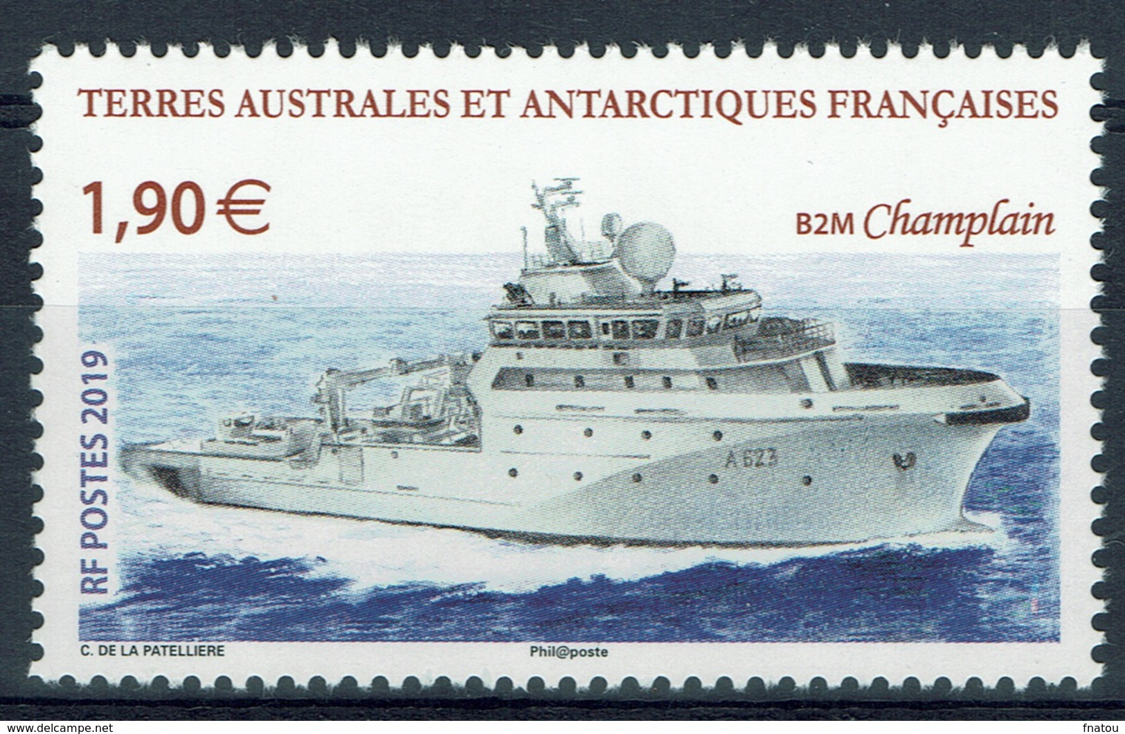 """FSAT (TAAF), """"le Champlain"""", French Ship, 2019, MNH VF - French Southern And Antarctic Territories (TAAF)"""
