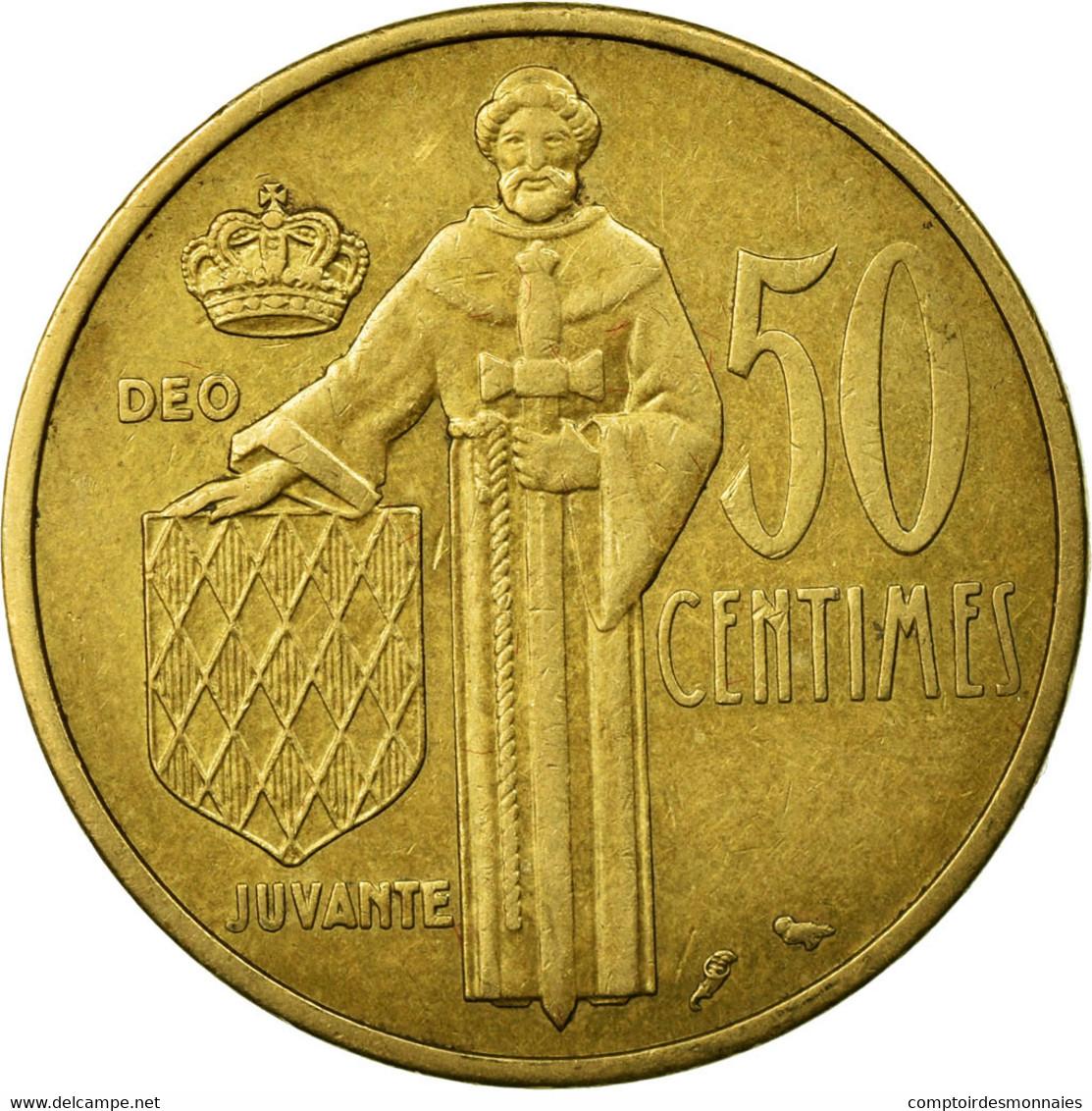 Monnaie, Monaco, Rainier III, 50 Centimes, 1962, TTB, Aluminum-Bronze - Monaco