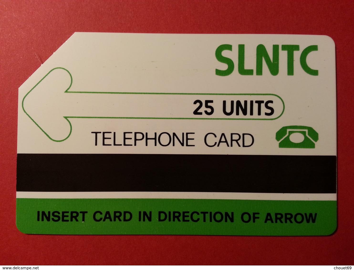 SIERRA LEONE 25u Matt PET First Test Card Green SLNTC Verso Bande Noire 1000ex Used URMET - Sierra Leone