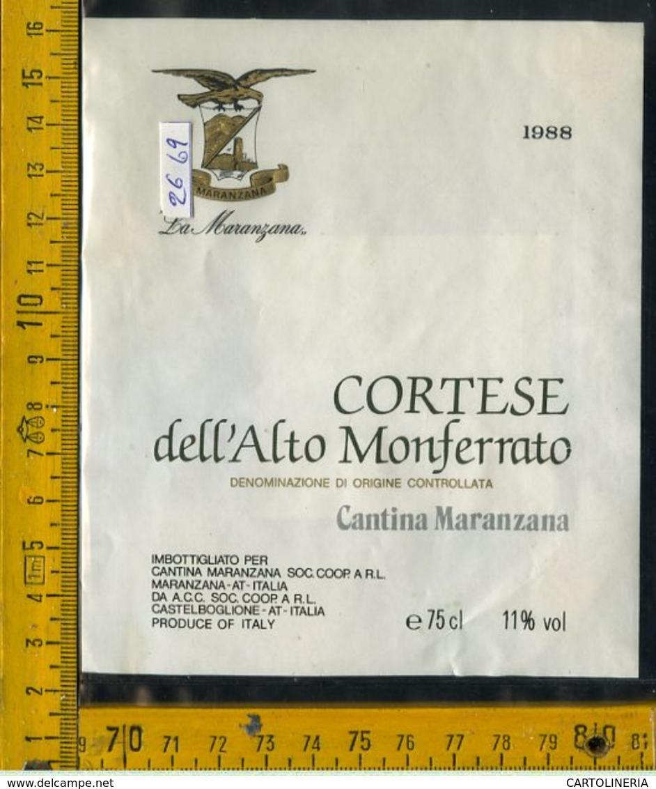 Etichetta Vino Liquore Cortese Dell'Alto Monferrato 1988 Asti - Altri