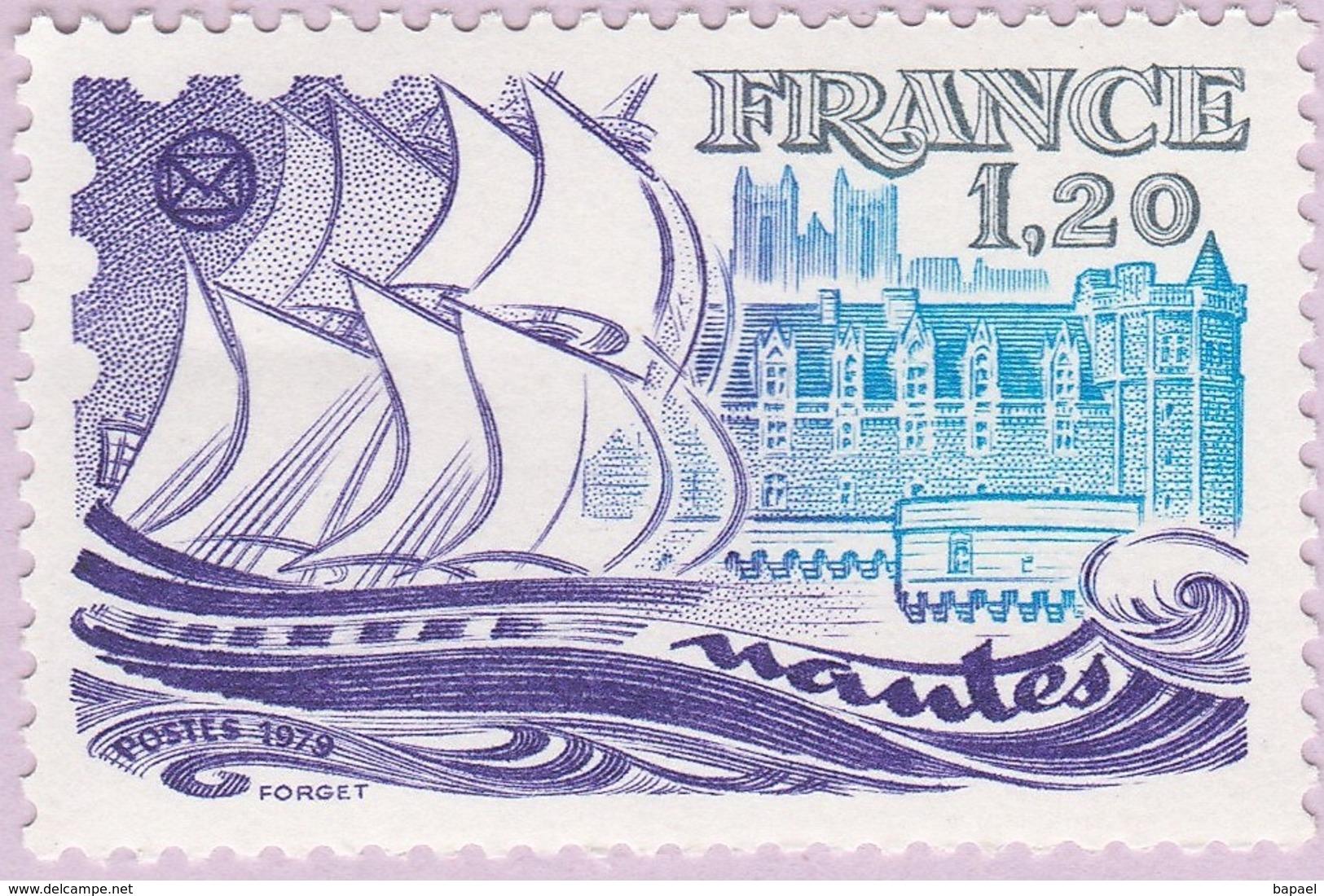 N° Yvert & Tellier 2048 - Timbre De France (Année 1979) - MNH - 52è Congrès Fed. Stés Philatéliques Fses (Nantes) - Francia