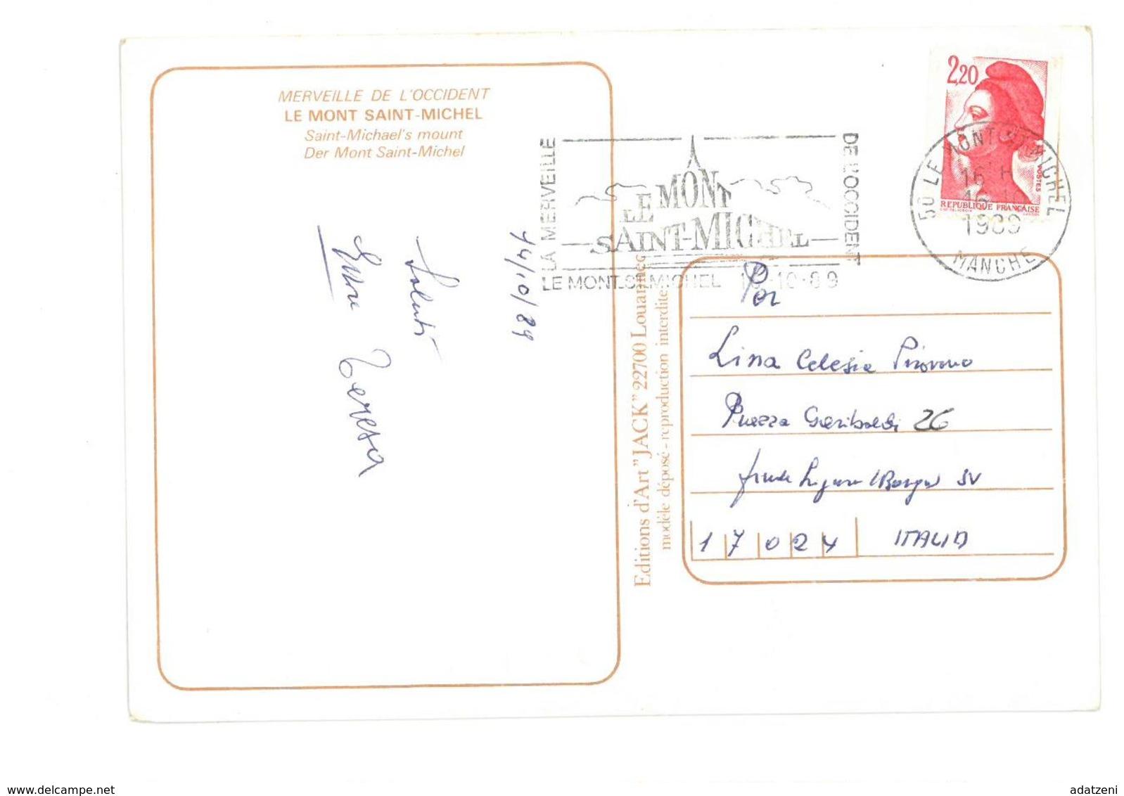 Francia Le Mont-Saint-Michel (Manche) Viaggiata 1989 Condizioni Come Da Scansione - Le Mont Saint Michel