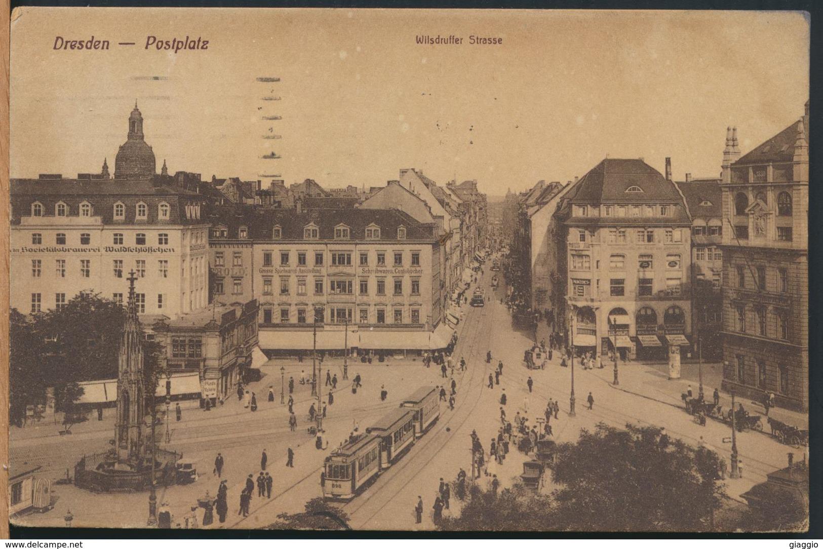 °°° 13155 - GERMANY - DRESDEN - POSTPLATZ - 1922 °°° - Dresden