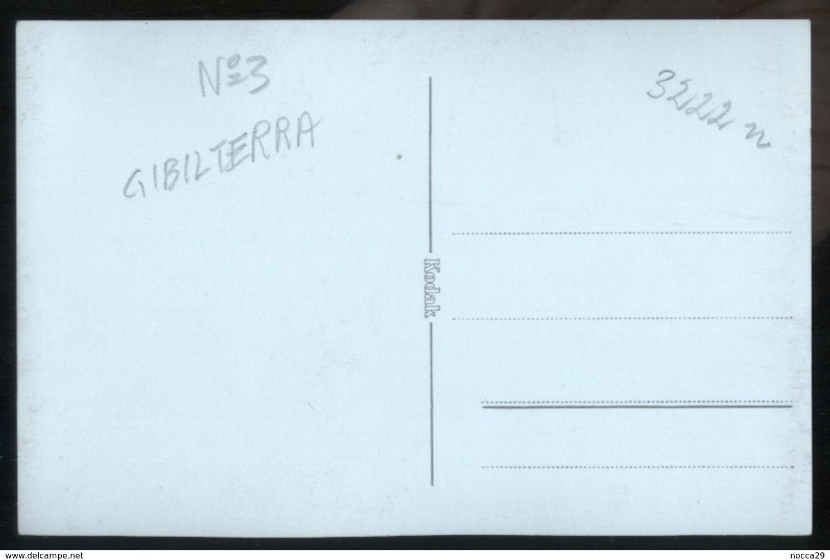 GIBILTERRA O CEUTA - GIBRALTAR OR CEUTA - FOTOCARTOLINA ANNI 30-40  N°3 - Gibilterra