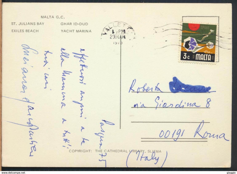°°° 13164 - MALTA - SLIEMA VIEWS - 1975 With Stamps °°° - Malta