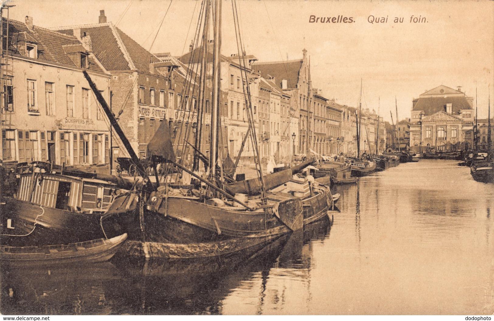 R179763 Bruxelles. Quai Au Foin. Carte Lux - Cartes Postales
