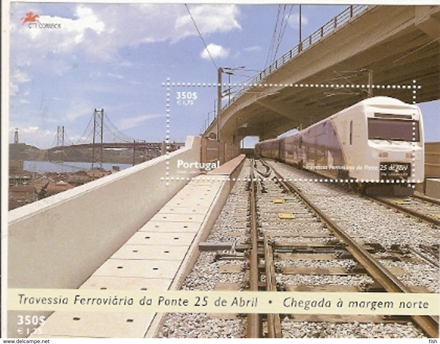Portugal ** & Train Crossing  25th  April Lisbon`s Bridge 1999 (220) - Ponti