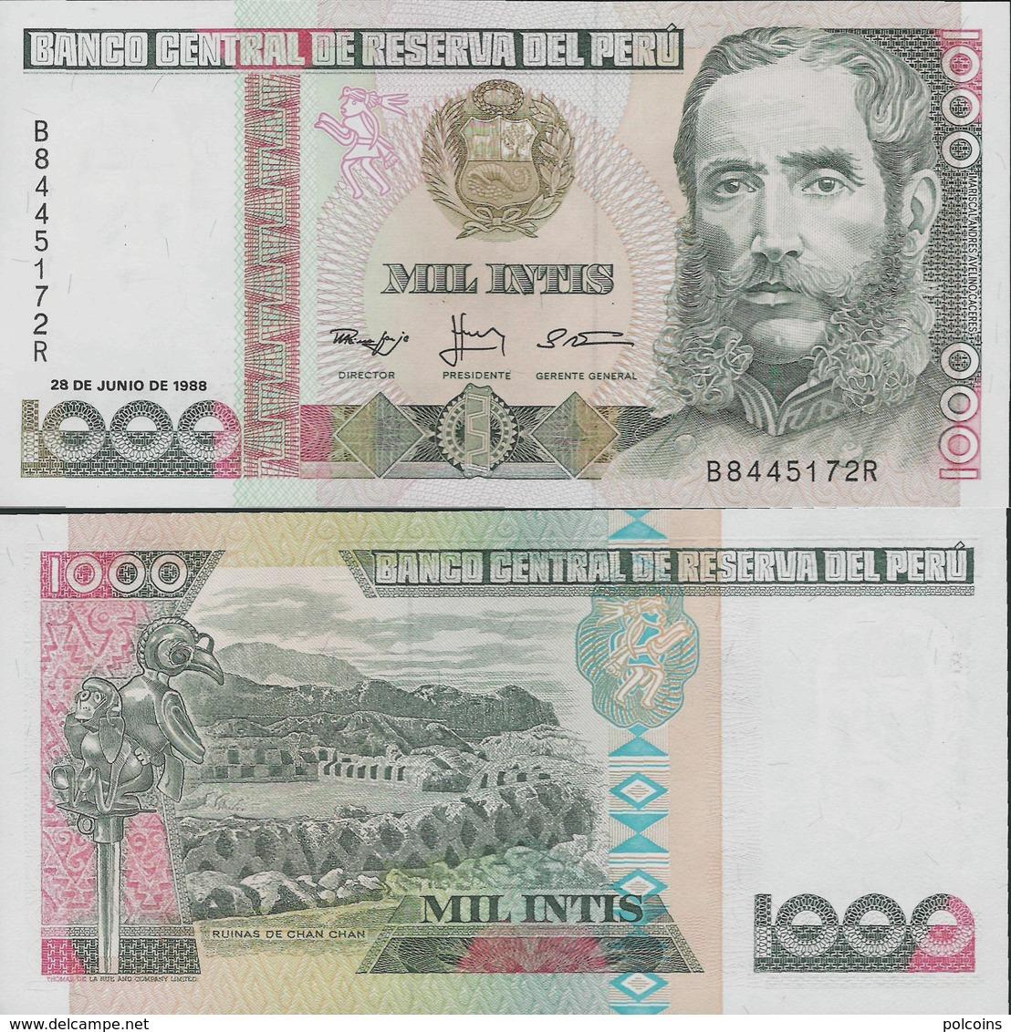 Peru 1988 - 1000 Intis - Pick 136 UNC - Pérou
