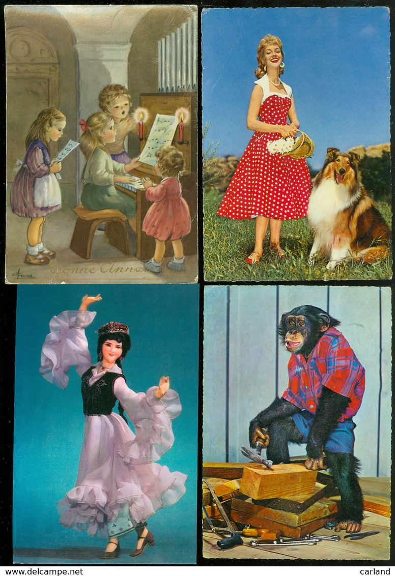 Beau Lot De 60 Cartes Postales De Fantaisie Grand Format  Mooi Lot Van 60 Postakaarten Van Fantasie Groot Formaat - Cartes Postales