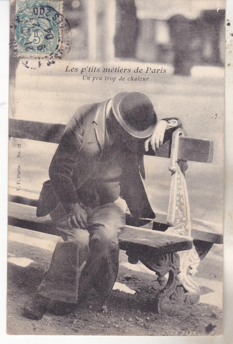 75 Les P'tits Métiers De Paris-  Un Peu Trop De Chaleur. édit VP 52. Tb état Daté 1904. - France