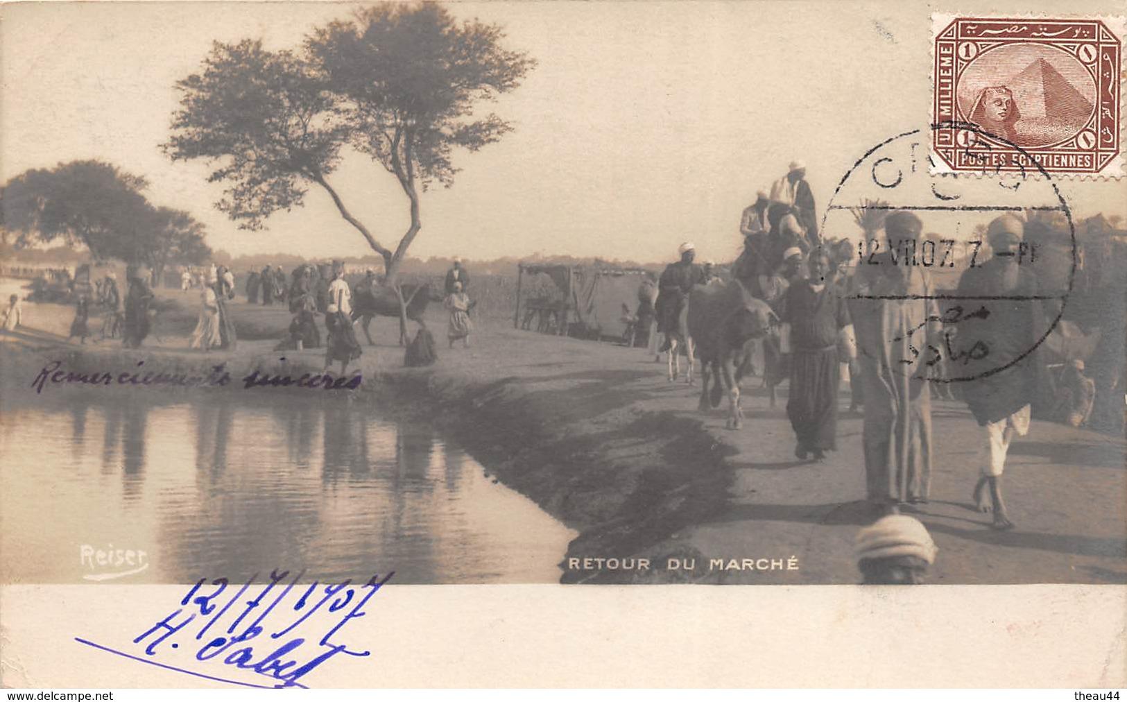 ¤¤   -   EGYPTE  -   Carte-Photo Du Retour Du Marché   -  ¤¤ - Egypt