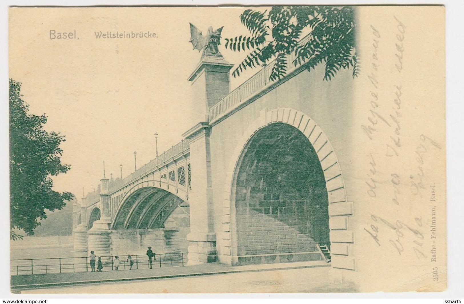 Basel - Wettsteinbrücke 2505 Rathe-Fehlmann 1906 - BS Bâle-Ville
